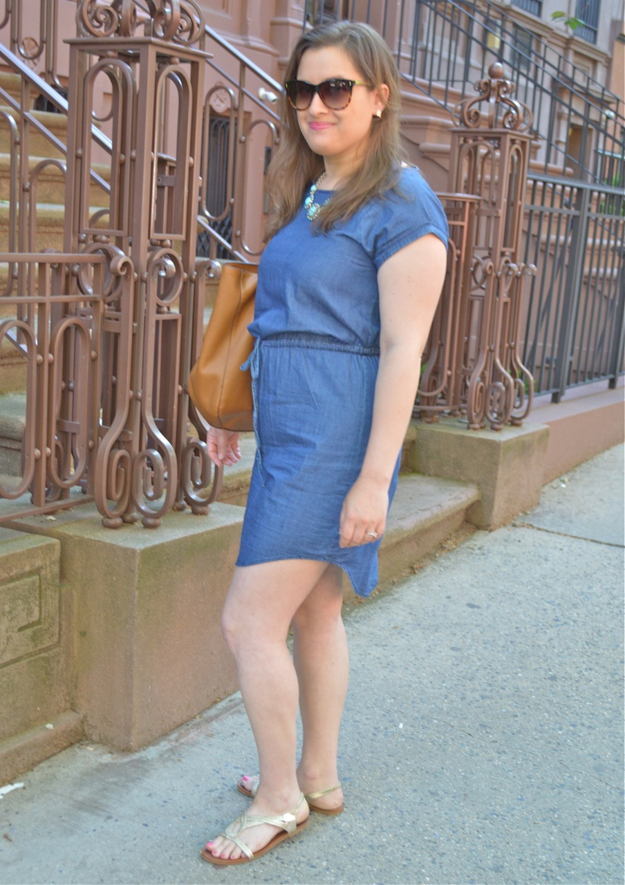 How to style a denim dress