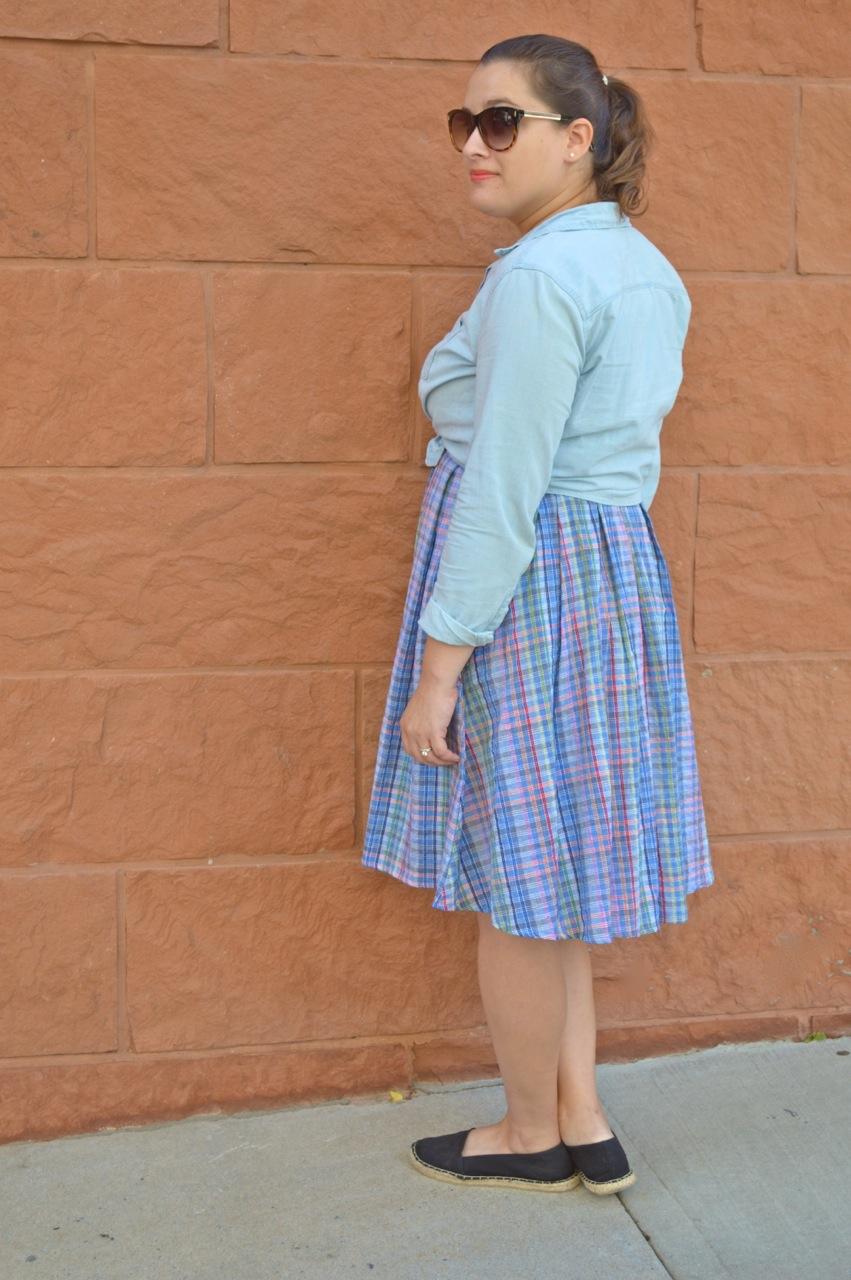 How to style a plaid dress