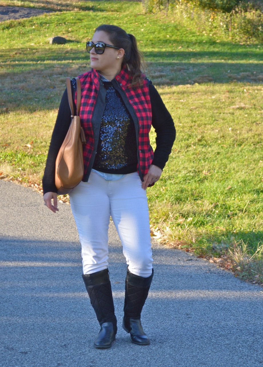 Casual sequined look