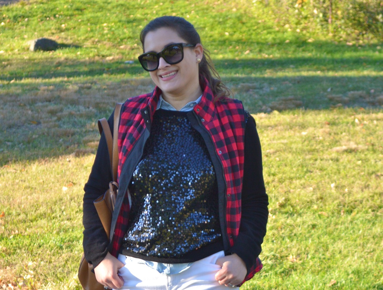Sequins and Plaid