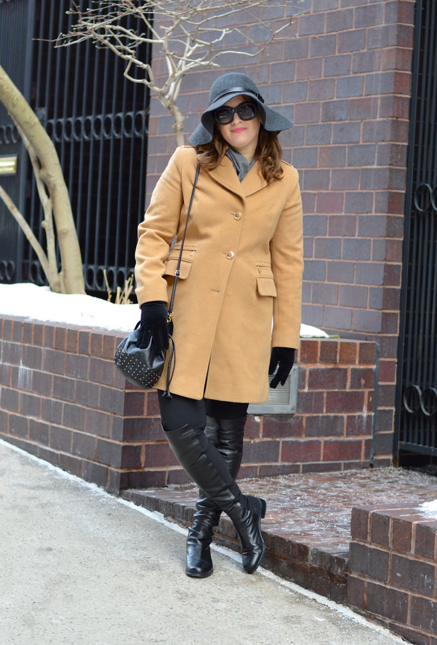 Camel Coat and Boots