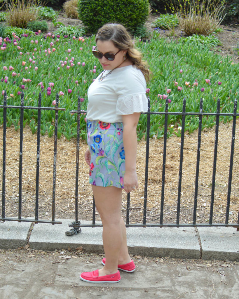 How to style floral shorts
