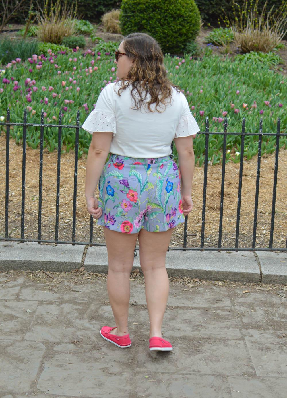 Flattering floral shorts