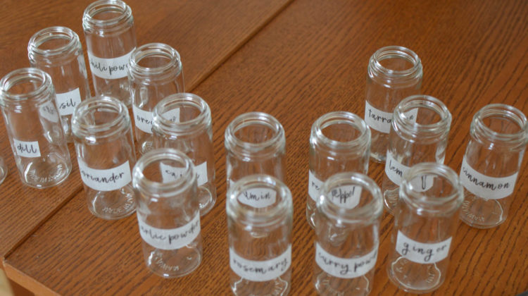 Easy Spice Jar DIY