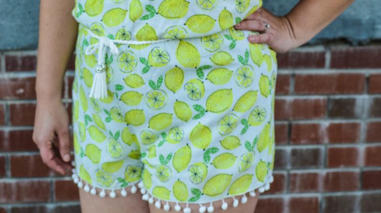 Lemon Print Romper