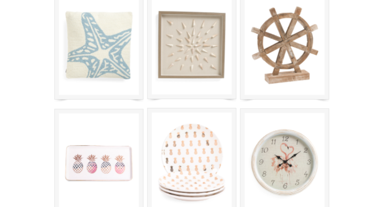 Summer Home Accents on Sale