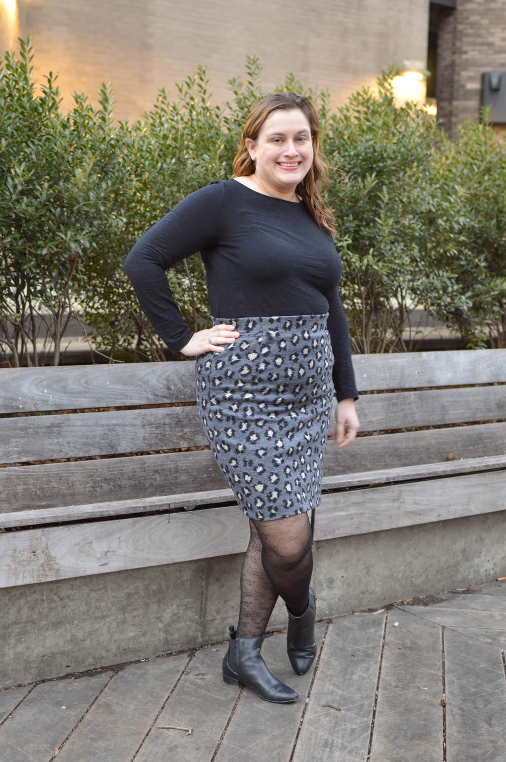 flattering pencil skirt