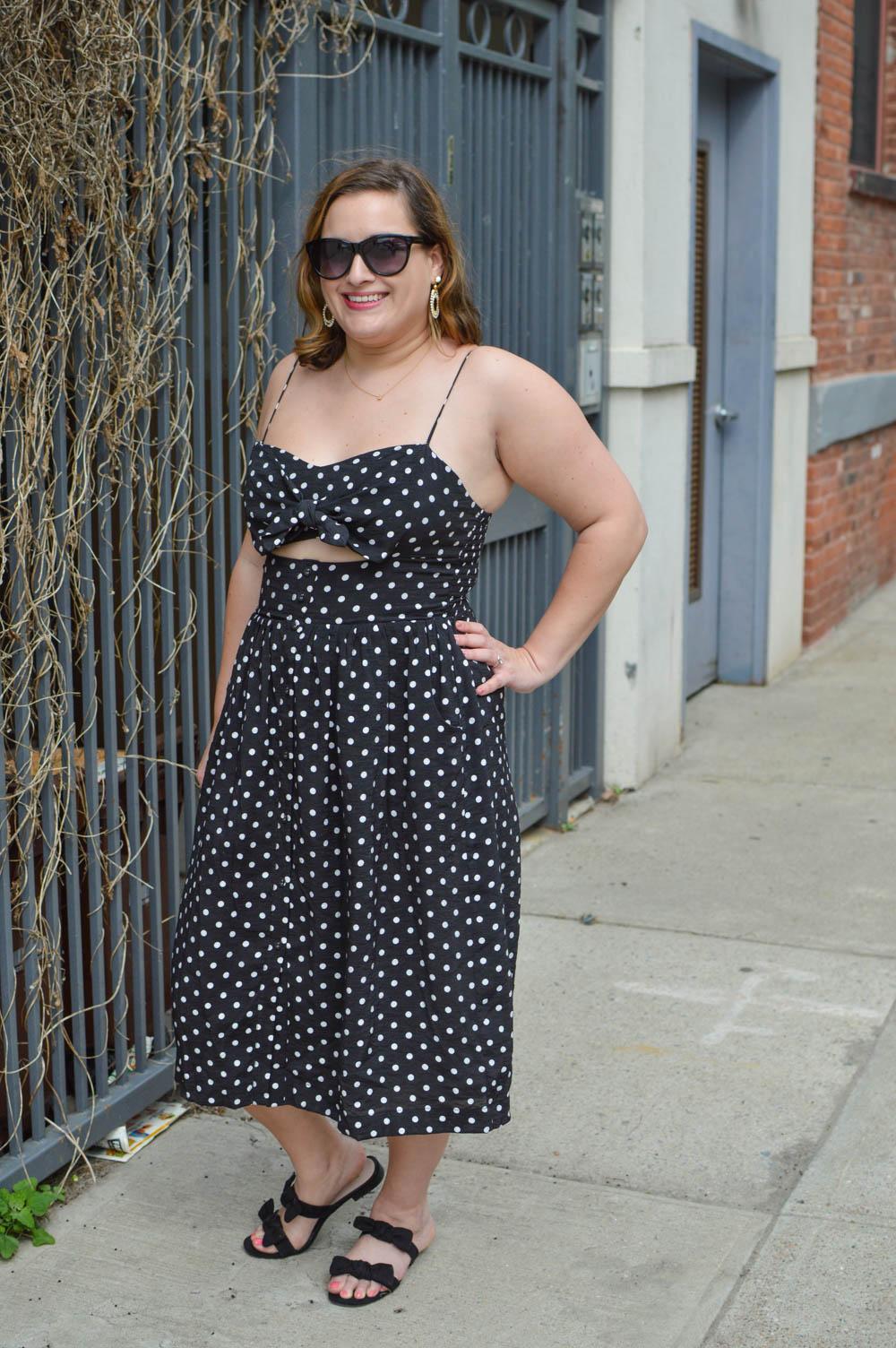 a796fa25c36 Polka Dot Dress - La Petite Pear